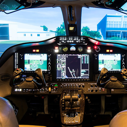 Pilot Training - Cockpit view from simulator